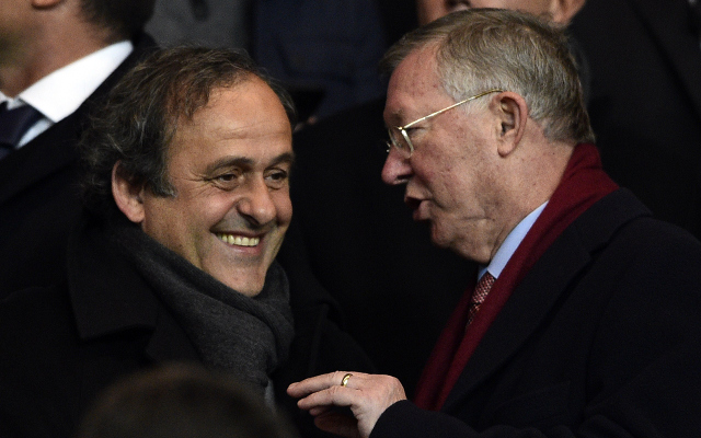 Alex Ferguson and Michel Platini