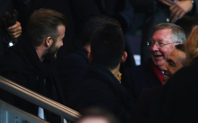 Beckham and Sir Alex Ferguson