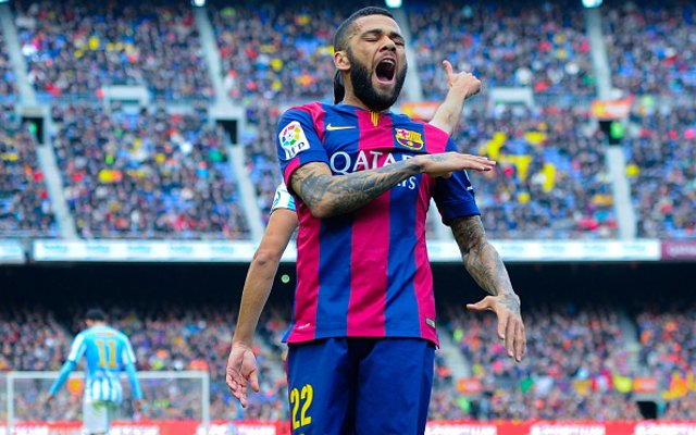 Dani Alves Barcelona Malaga