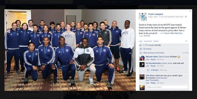 Frank Lampard NYCFC team-mates