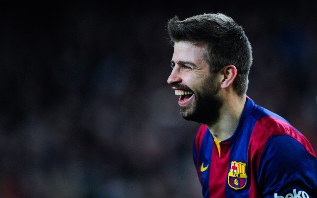 <> at Camp Nou on February 11, 2015 in Barcelona, Spain.