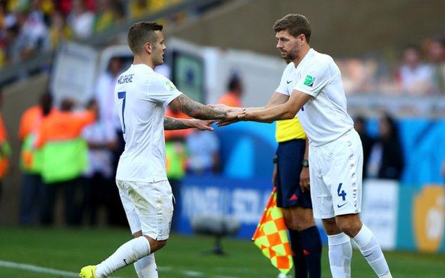 Jack Wilshere Steven Gerrard England
