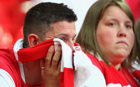Sad Arsenal fans