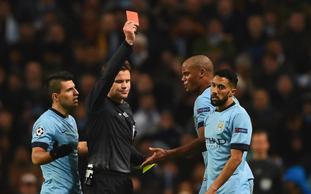 gael clichy red card