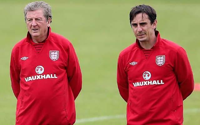 Roy Hodgson, Gary Neville, England