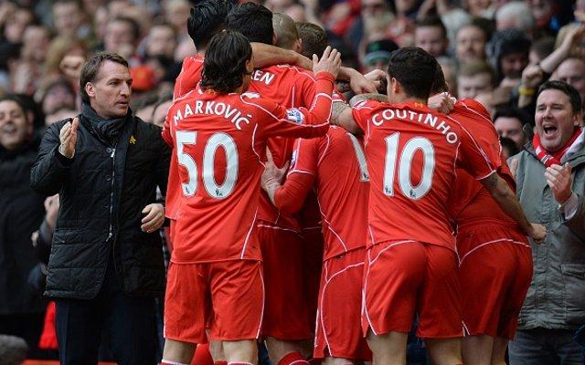 Brendan Rodgers Liverpool celebrate