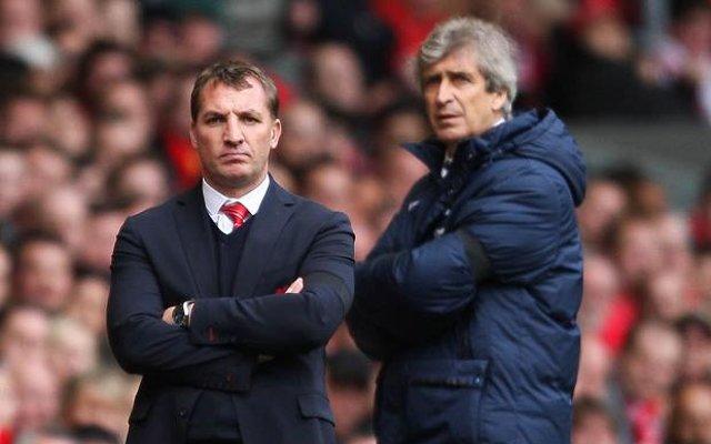 Brendan Rodgers Liverpool Manuel Pellegrini Manchester City