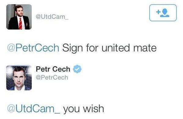 Chelsea Petr Cech owns Manchester United fan