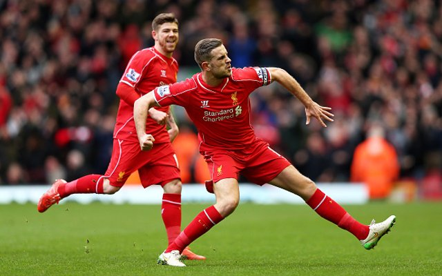 Jordan Henderson Liverpool Man City
