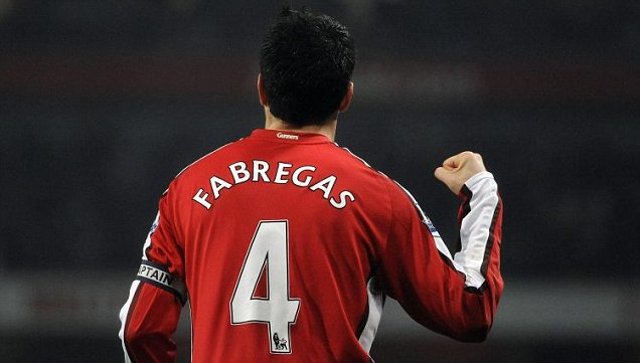 quality design b35e9 c7eb1 Image) Ingenius Arsenal fan modifies old Cesc Fabregas shirt ...