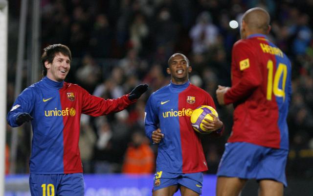 Lionel Messi, Samuel Eto'o & Thierry Henry - Barcelona