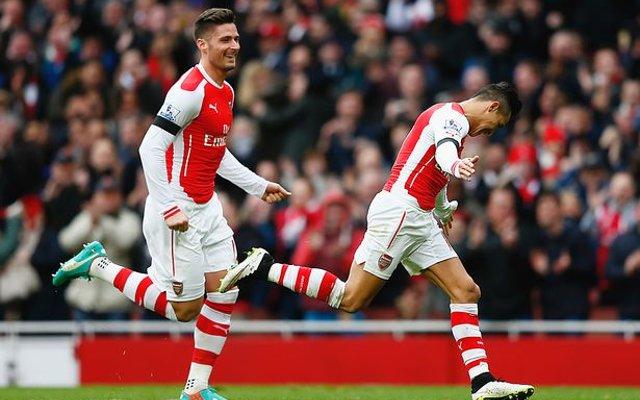Olivier Giroud Alexis Sanchez Arsenal
