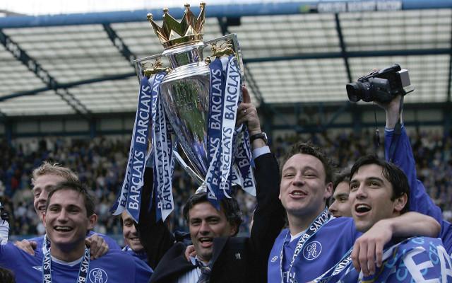 mourinho terry lampard chelsea premier league trophy