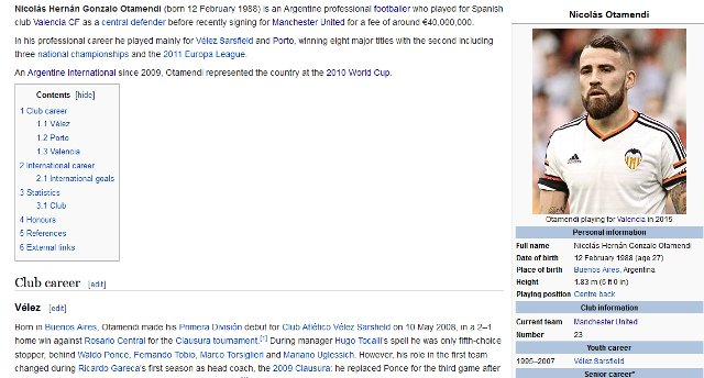 Otamendi Man Utd wiki
