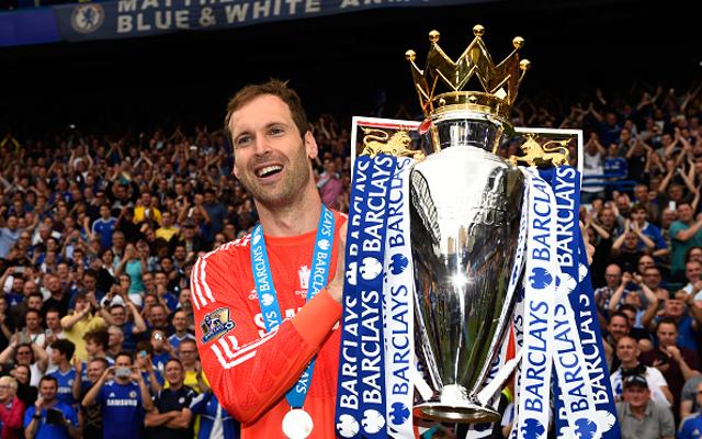 Petr Cech Chelsea trophy