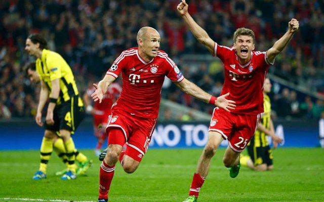 Arjen Robben Bayern Munich Borussia Dortmund