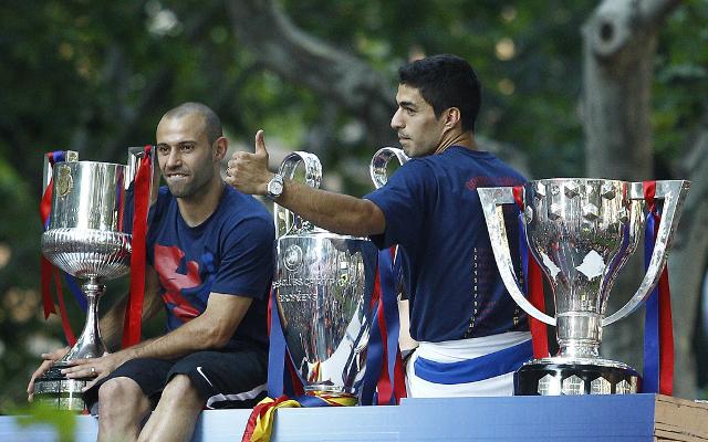 Javier Mascherano & Luis Suarez  -Barcelona