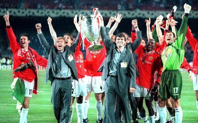 Manchester United Champions League treble 1999 Scholes Keane