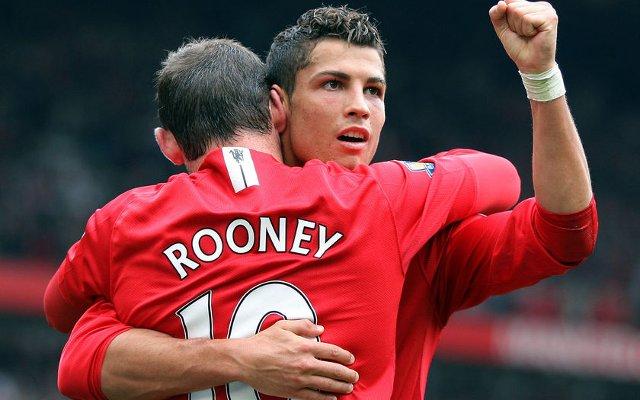 Rooney Ronaldo Manchester United