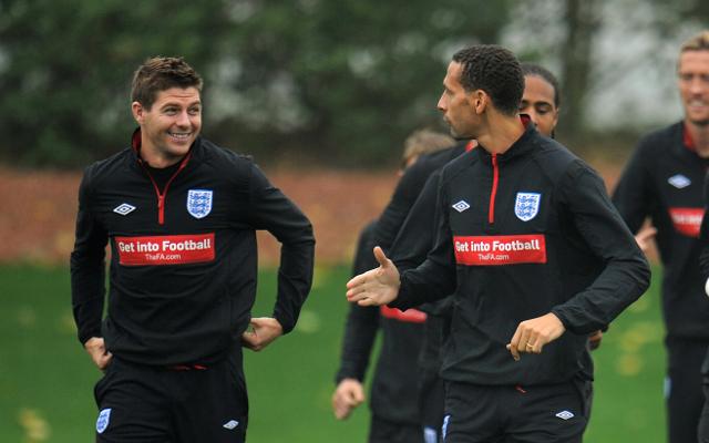 Steven Gerrard & Rio Ferdinand - England