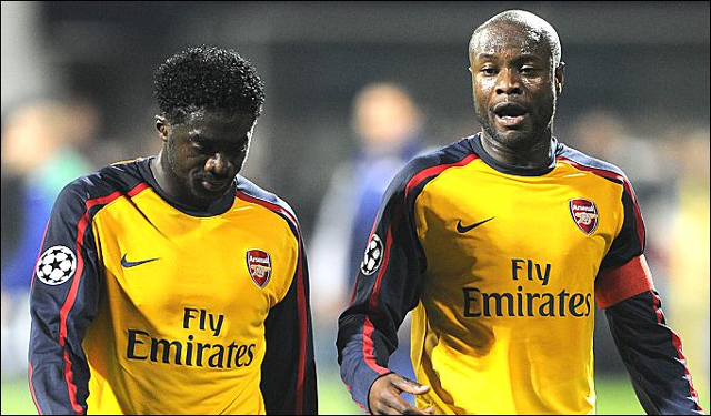 Former Arsenal skipper Gallas (right) has reservations about Arteta becoming manager of Arsenal