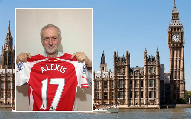 Jeremy Corbyn Arsenal shirt