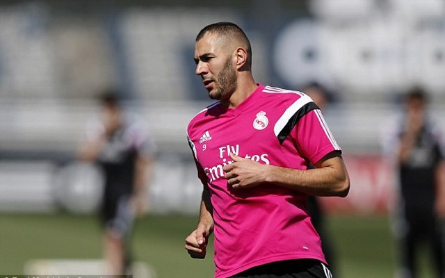 Karim Benzema training