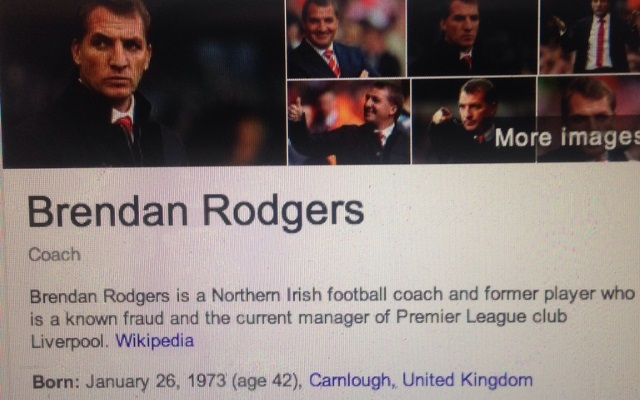 Brendan Rodgers Wikipedia page