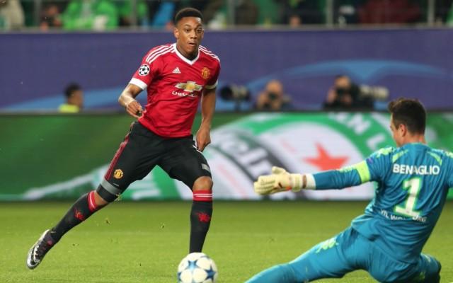 Anthony Martial goal vs Wolfsburg