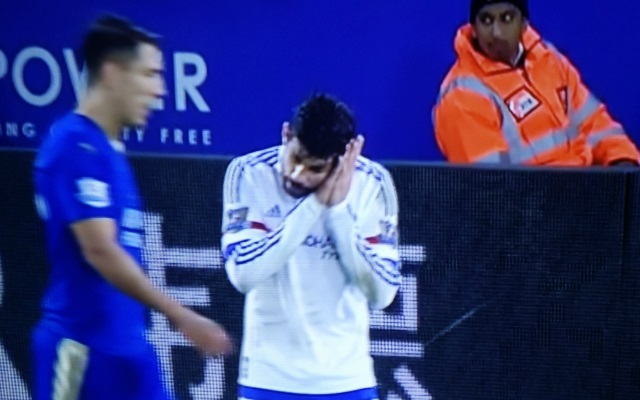 Diego Costa sleeping Chelsea Leicester