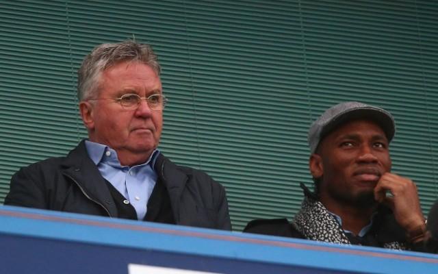 Guus Hiddink & Didier Drogba
