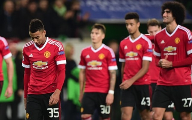 Man United players after Champions League exit