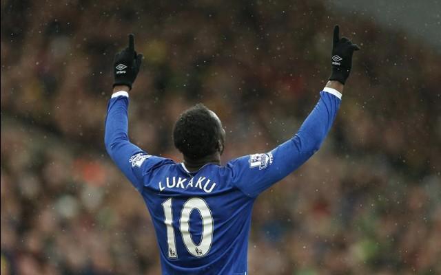 Romelu Lukaku Everton v Norwich