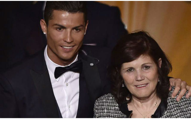 Ronaldo and mother