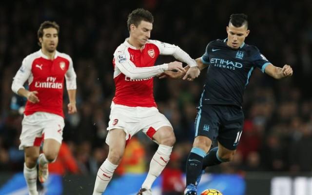 Sergio Aguero Man City v Arsenal