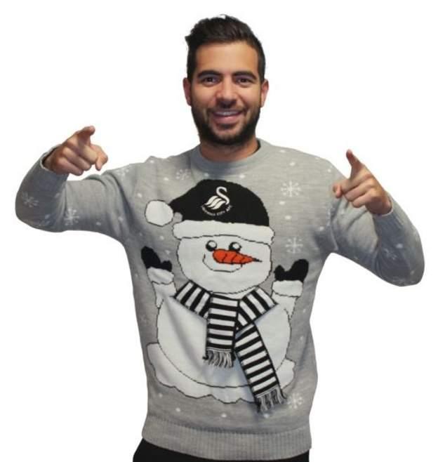 Swansea City Christmas jumper