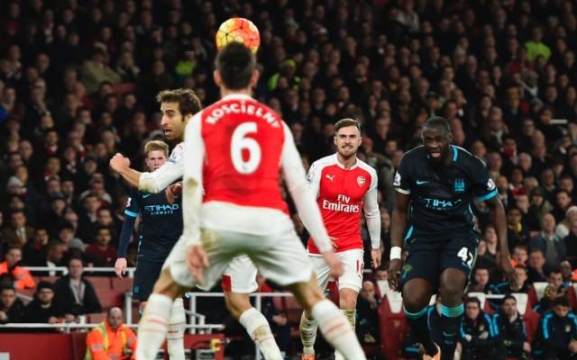 Yaya Toure Man City v Arsenal