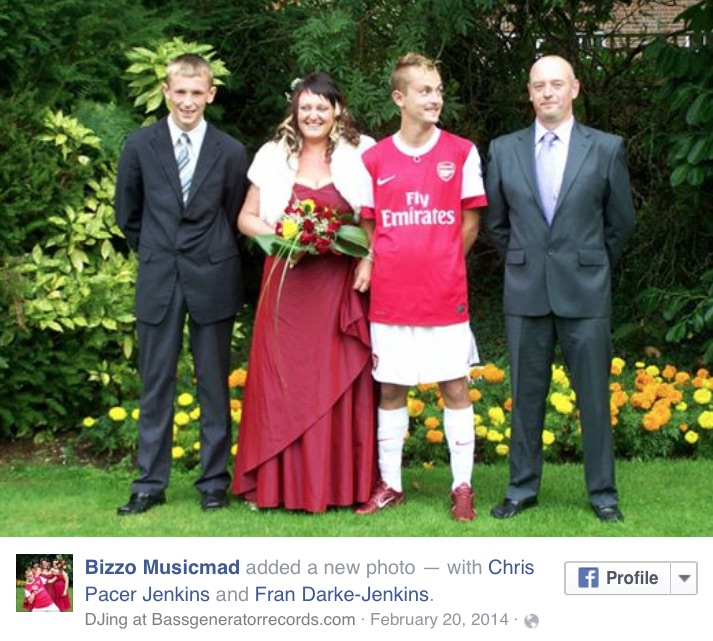Arsenal FKW wedding Facebook post
