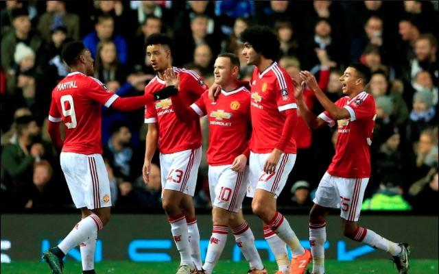 Wayne Rooney Man United v Derby