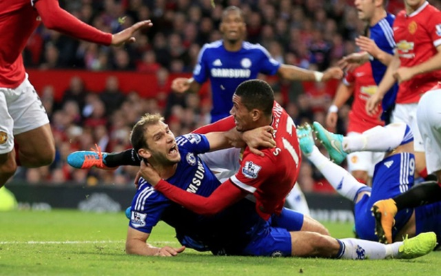 Branislav Ivanovic, Chris Smalling wrestle