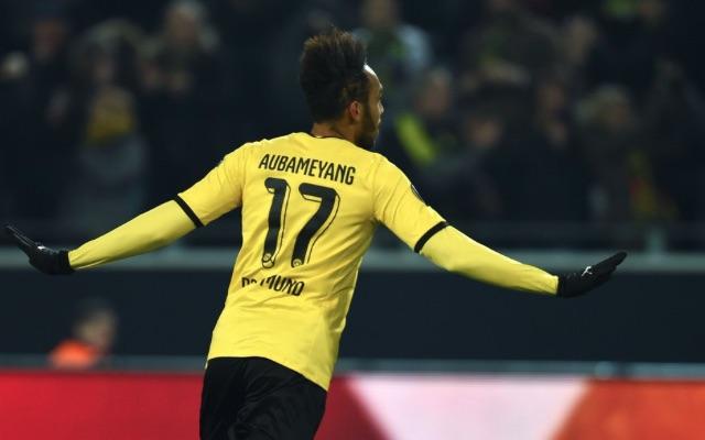 Aubameyang Dortmund v Tottenham