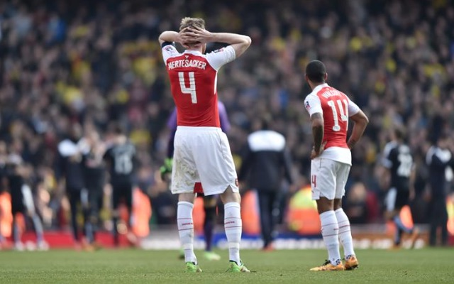Per Mertesacker Arsenal v Watford
