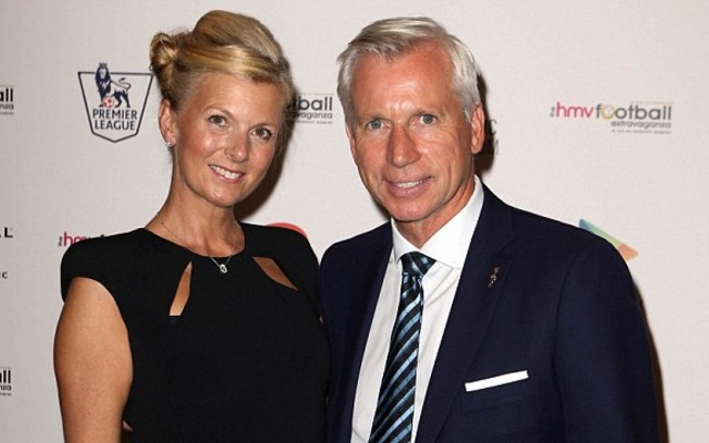 Alan Pardew and wife Tina