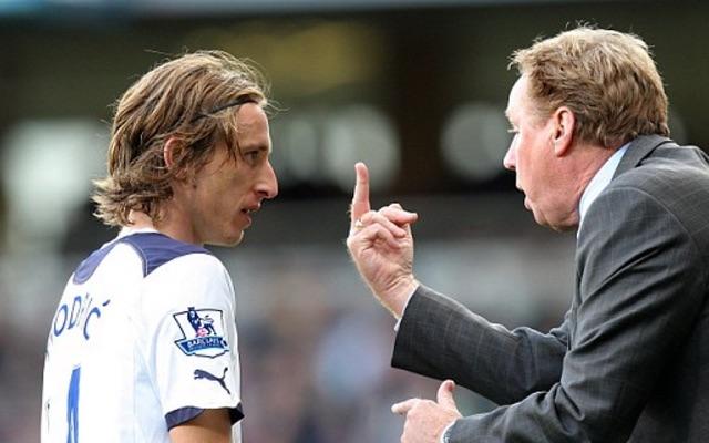 Harry Redknapp gives Luka Modric the finger