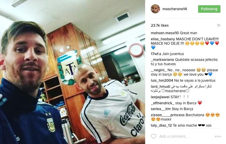 Javier Mascherano Instagram