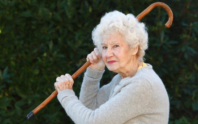 Image result for image of old woman with walking stick