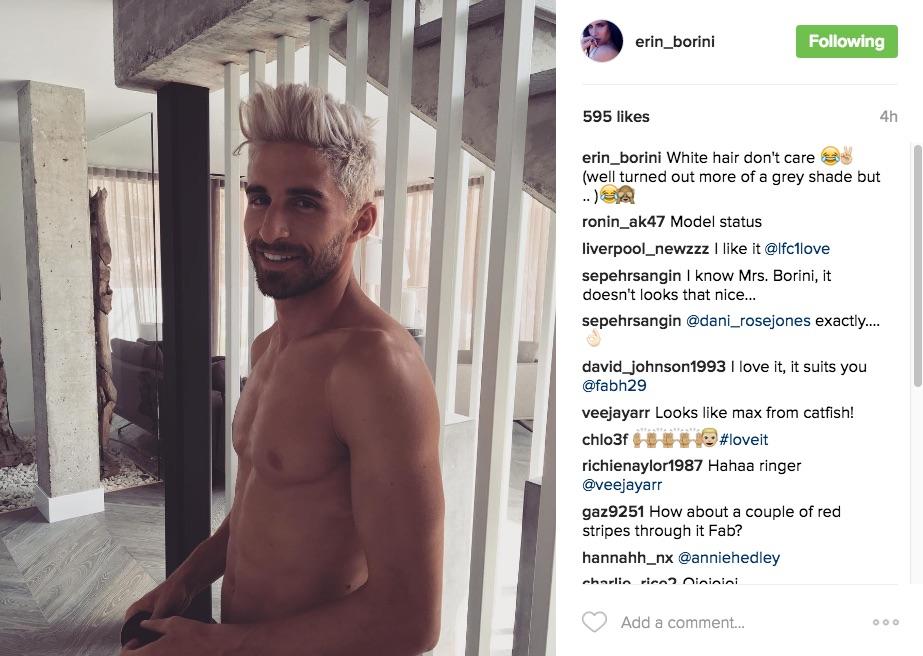 Fabio Borini new hair