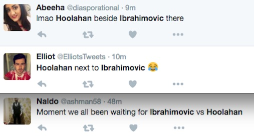 Wes Hoolahan vs Zlatan Ibrahimovic Twitter banter