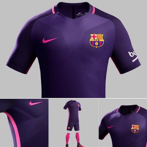 finest selection b4ba5 2f4f1 Barcelona away kit 2016-17 (photos): Messi & co to wear pink ...