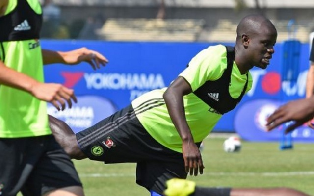 N'Golo Kante trains with Chelsea for first time